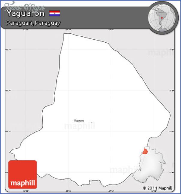 free fancy silver style simple map of yaguaron cropped outside Yaguarón Map