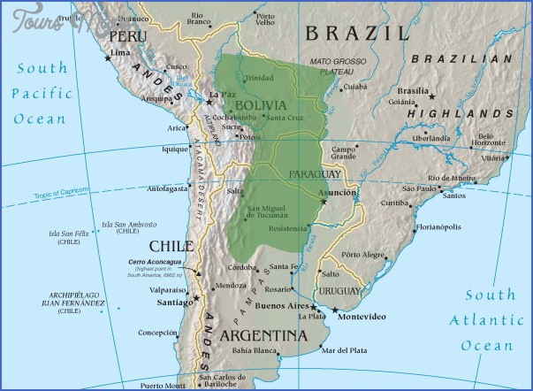 gran chaco map tourist attractions 4 Gran Chaco Map Tourist Attractions