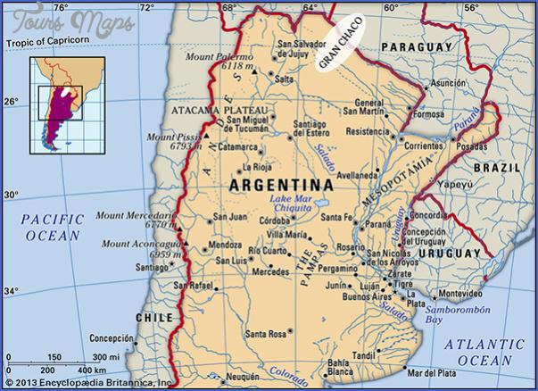 gran chaco map tourist attractions 7 Gran Chaco Map Tourist Attractions