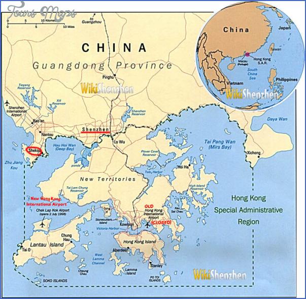 hk shenzhen MAP SHENZHEN TO HONG KONG