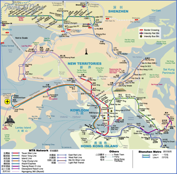 hk shenzhen mtr map 2010 1 MAP FROM SHENZHEN TO HONG KONG