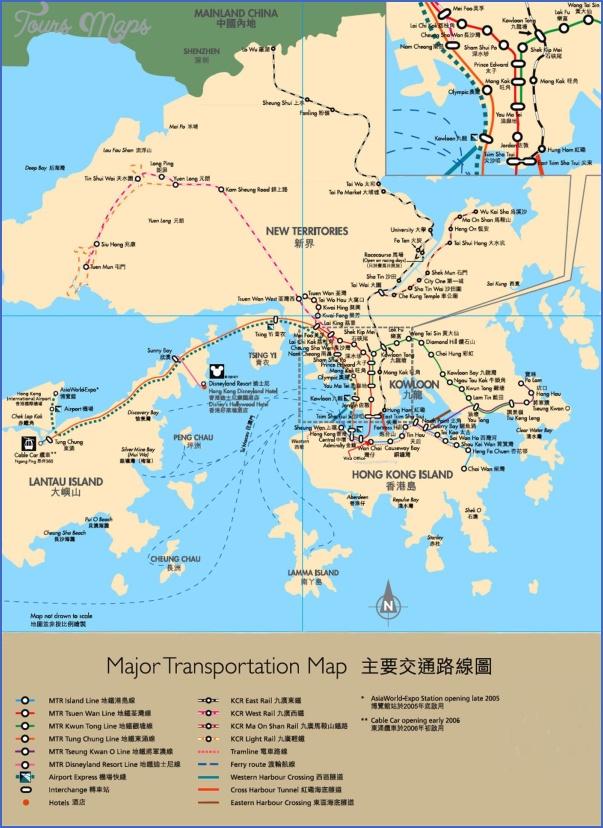 hong kong shenzhen transportation map 3 MAP FROM SHENZHEN TO HONG KONG
