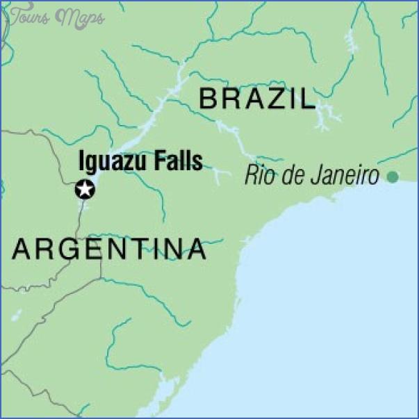 iguacu falls map 1 Iguaçu Falls Map