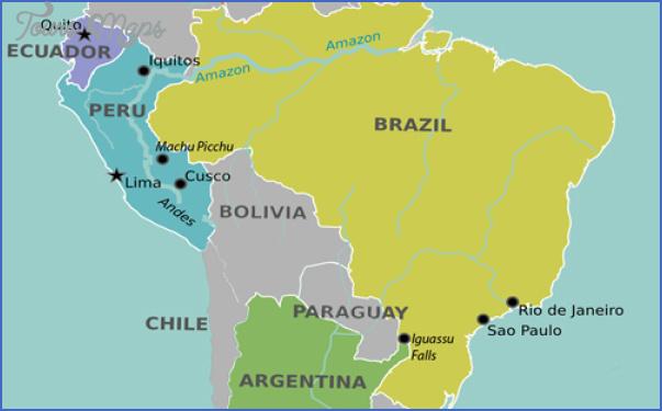 iguacu falls map 4 Iguaçu Falls Map