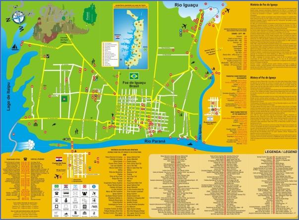 iguacu falls map 7 Iguaçu Falls Map