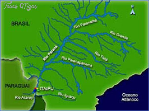 itaipu map paraguay 14 Itaipu  Map Paraguay