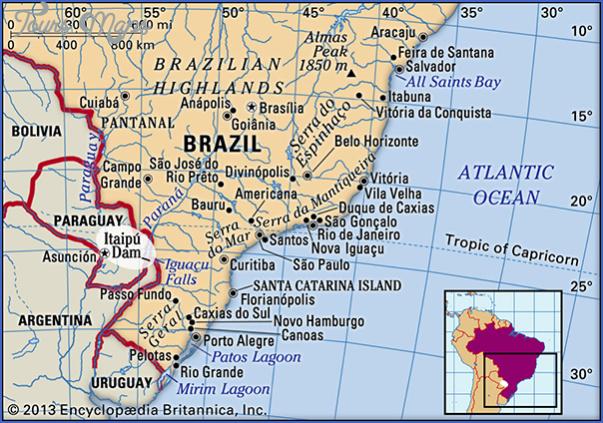 itaipu map paraguay 17 Itaipu  Map Paraguay