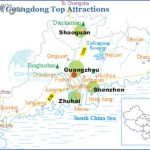 map of guangdong top attractions 150x150 Shenzhen Map Tourist Attractions