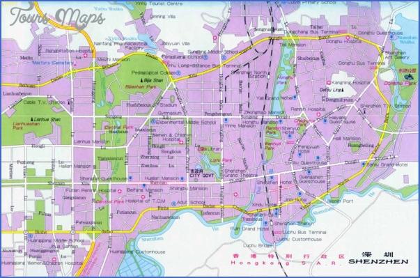 map shenzhen SHENZHEN STREET MAP