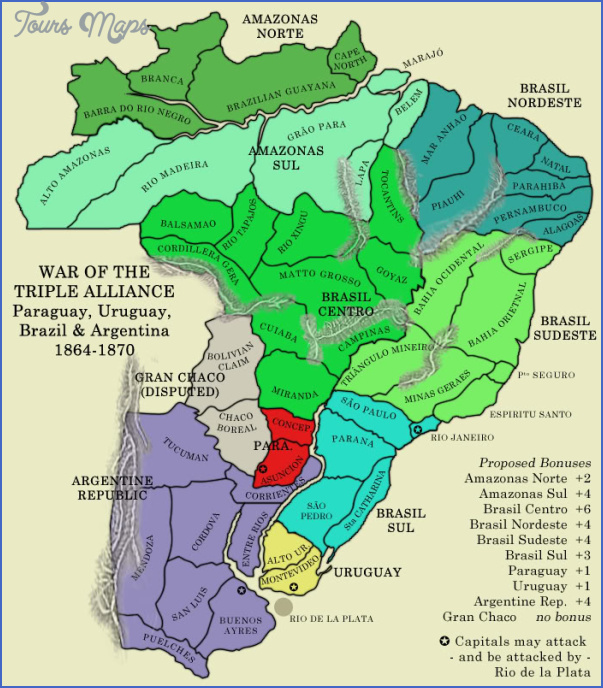 paraguay map before war 3 PARAGUAY MAP BEFORE WAR