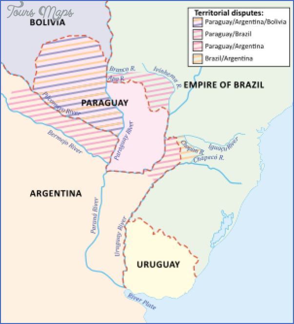 paraguay map before war 5 PARAGUAY MAP BEFORE WAR