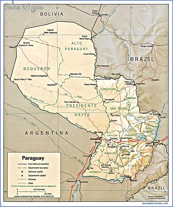 paraguay map before war 7 PARAGUAY MAP BEFORE WAR