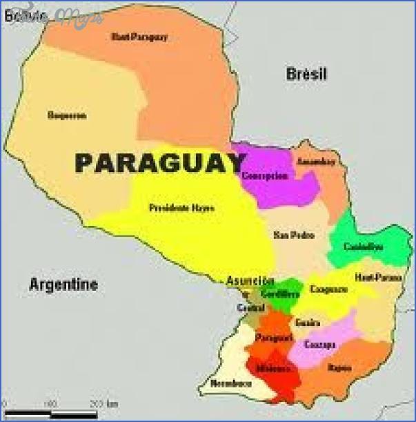 Paraguay Map Tourist Attractions | ToursMaps.com ®