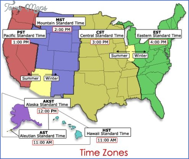 time difference map