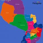 paraguaystatesmap 150x150 Paraguay Map
