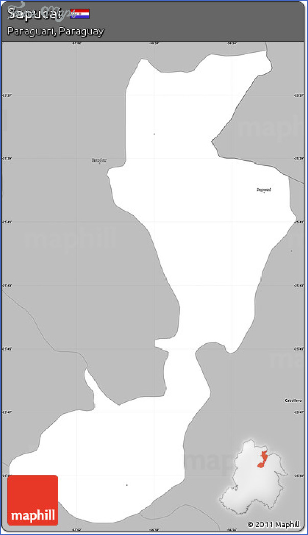 sapucai map paraguay  0 Sapucai Map Paraguay