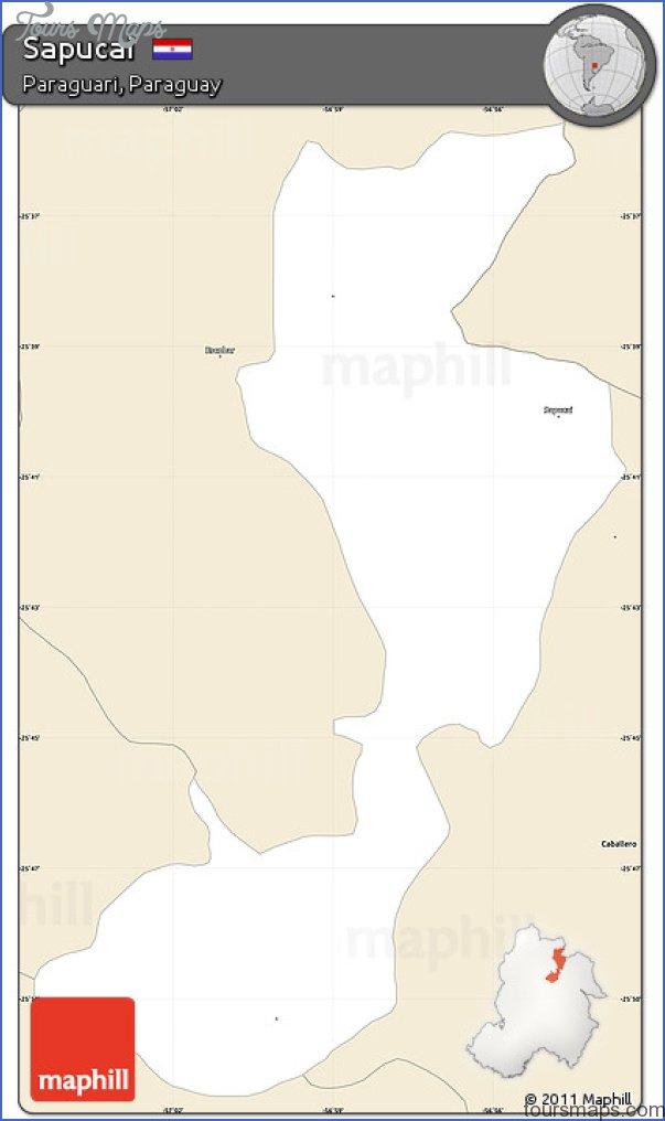 sapucai map paraguay  1 Sapucai Map Paraguay