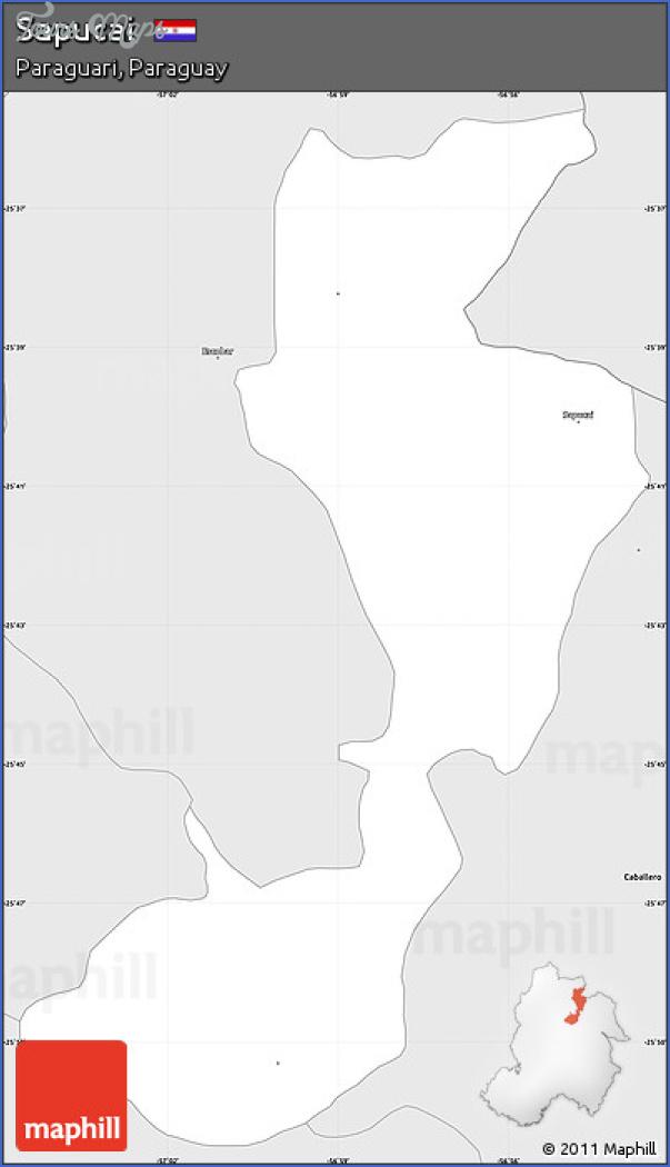 sapucai map paraguay  3 Sapucai Map Paraguay