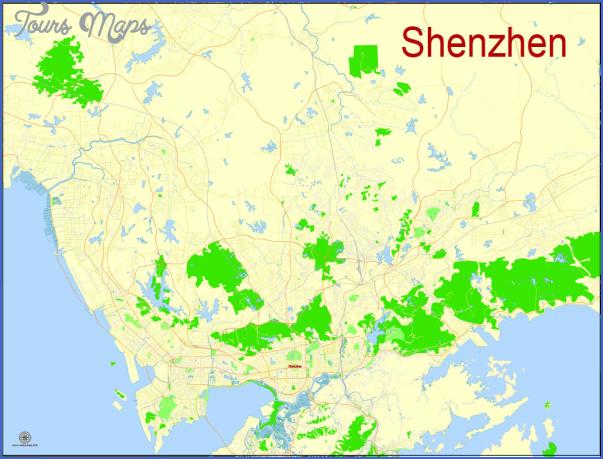 shenzhen map of china 1 SHENZHEN MAP OF CHINA