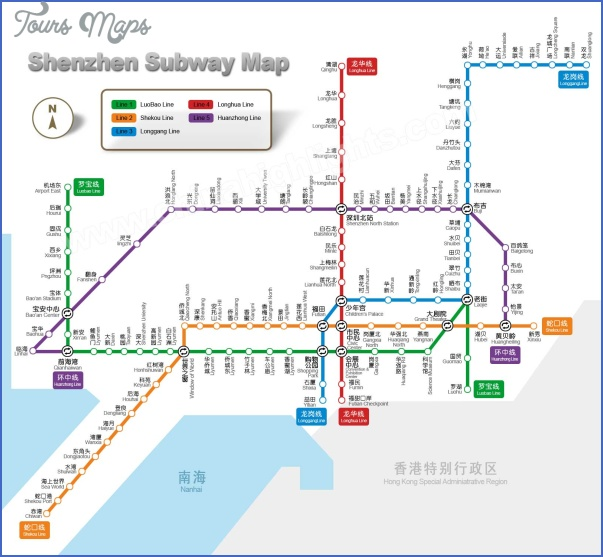 shenzhen map subway 2 SHENZHEN MAP SUBWAY