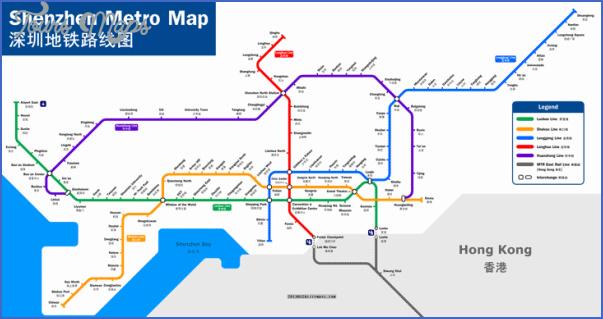 shenzhen map with metro 6 SHENZHEN MAP WITH METRO