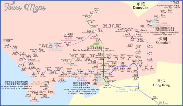 shenzhen metro map 3 SHENZHEN FUYONG MAP