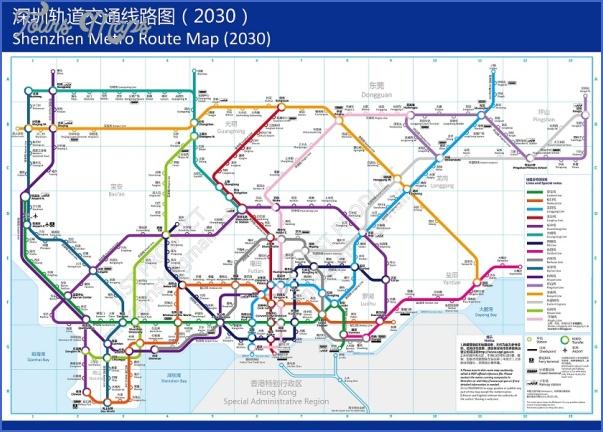 shenzhen metro rail map 9 SHENZHEN METRO RAIL MAP