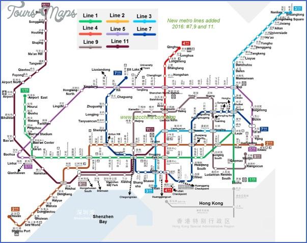 shenzhen rail map 4 SHENZHEN RAIL MAP