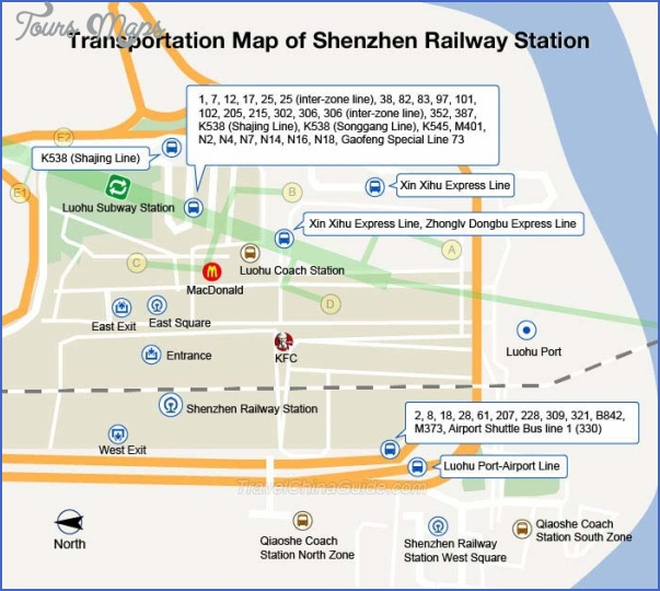 shenzhen railway map 9 SHENZHEN RAILWAY MAP