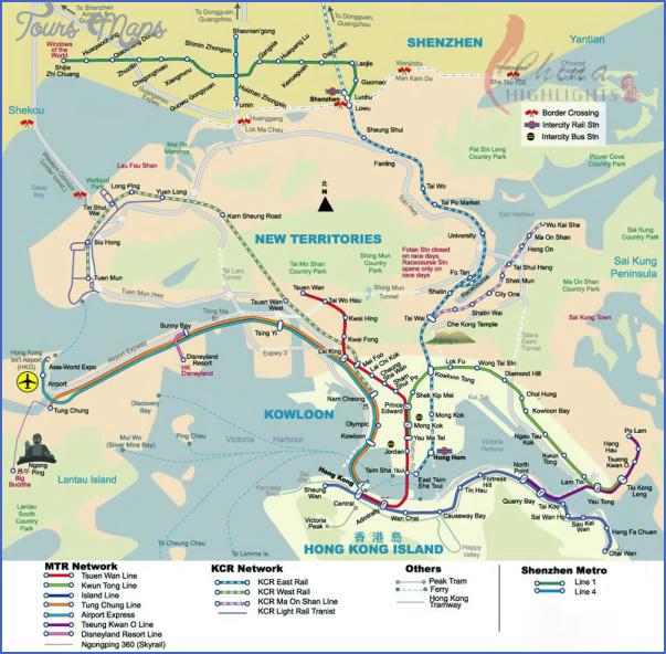 SHENZHEN ROAD MAP IN ENGLISH - ToursMaps.com