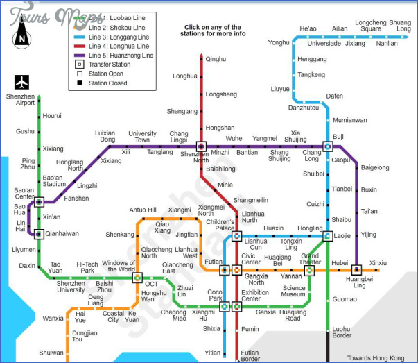 shenzhen route map 5 SHENZHEN ROUTE MAP