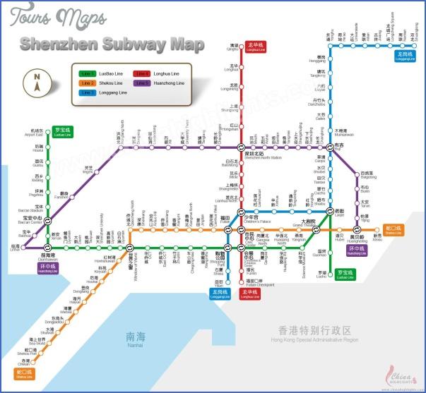shenzhen station map 0 SHENZHEN STATION MAP