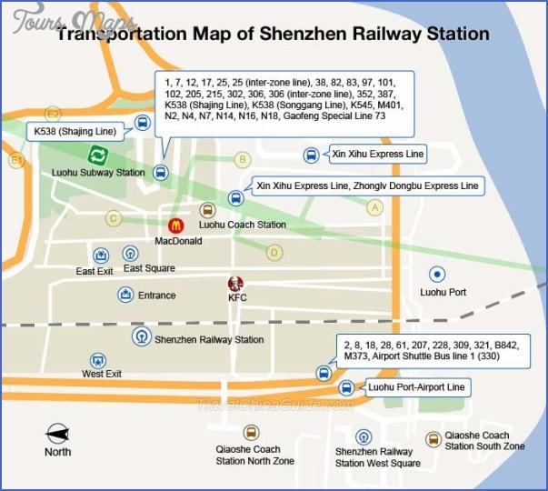 shenzhen station MAP SHENZHEN EMS CHINA