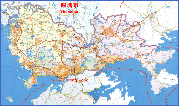 shenzhen travel map 1 SHENZHEN TRAVEL MAP