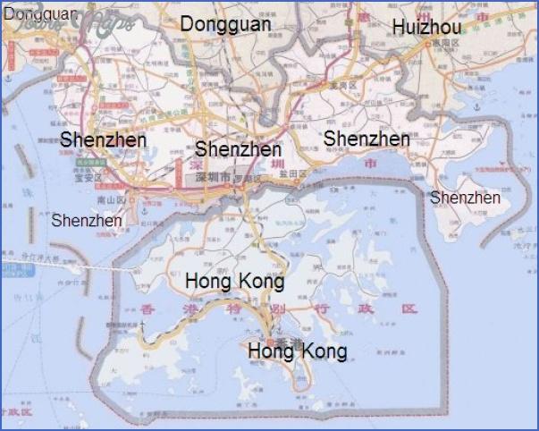 shenzhenandhongkong 2 MAP FROM SHENZHEN TO HONG KONG