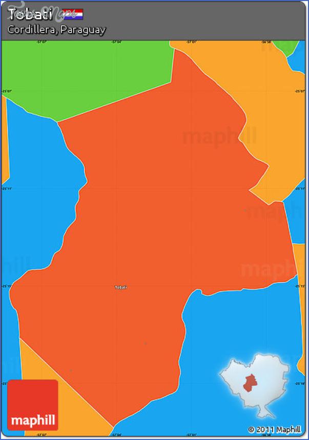 tobati map paraguay 0 Tobati Map Paraguay