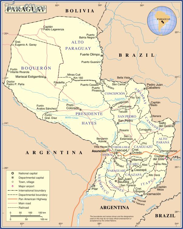 un paraguay 1 Paraguay Map