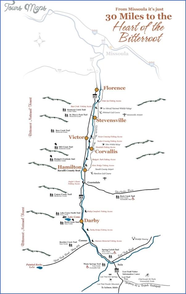 bitterroot valley map 4 Bitterroot Valley Map