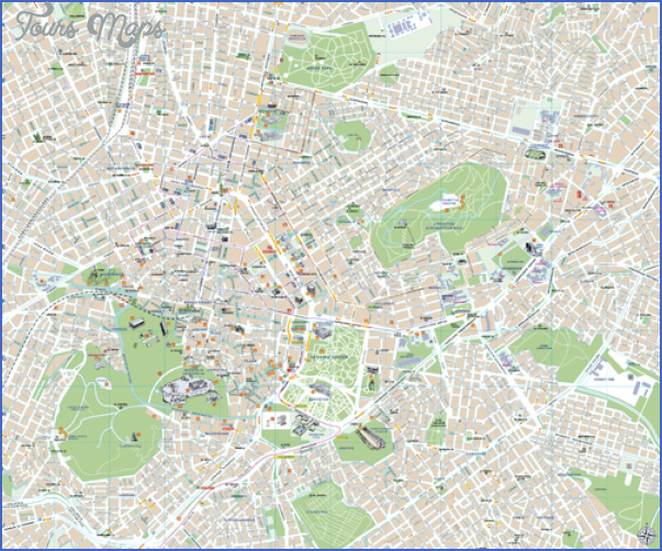 center of athens 500 Greece Map For Tourists
