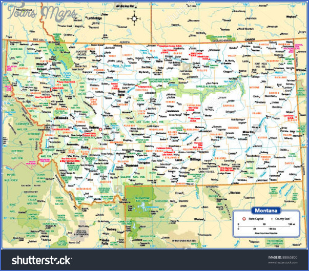 DETAILED MAP OF MONTANA - ToursMaps.com ®