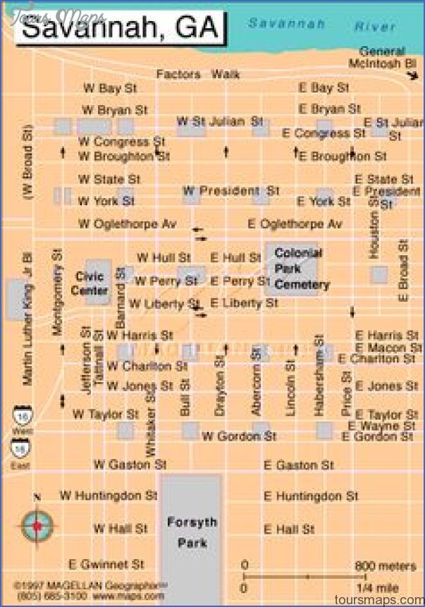 Map of Savannah Squares | ... Squares, Homes, Museums, and ...
