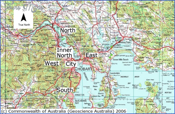 hobart areas Hobart Map