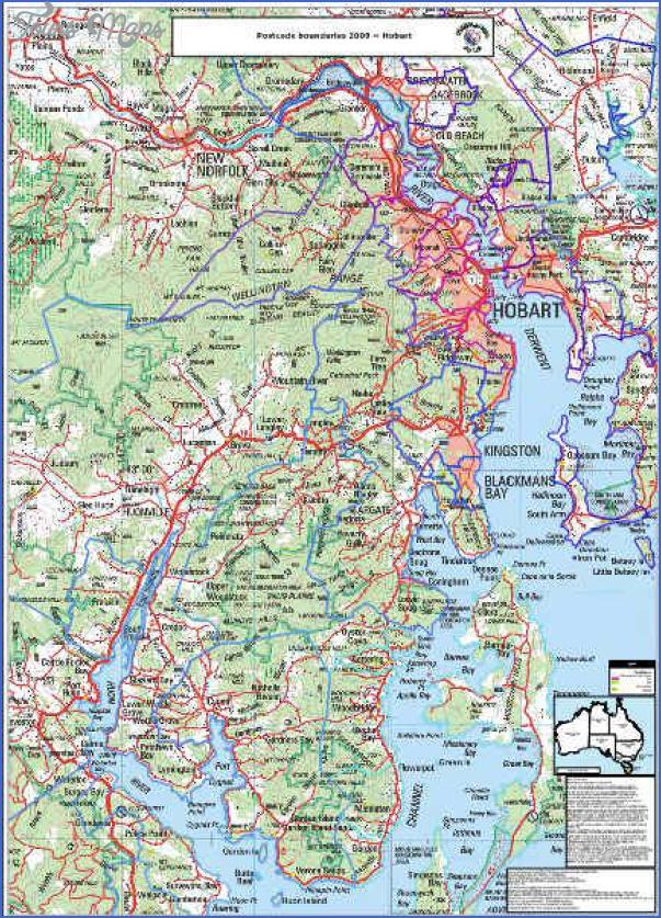 hobart Hobart Map