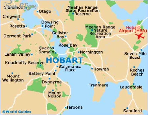 hobart city map Hobart Map