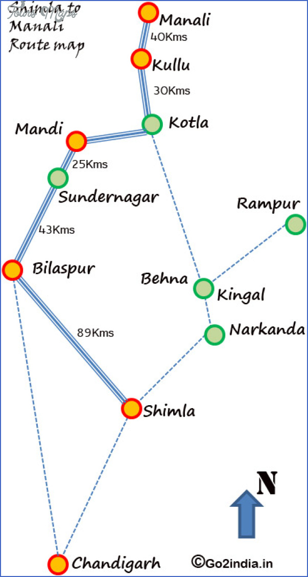 manali map 1 Manali Map