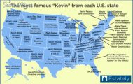 U.S. Map Shows The Most Famous 'Kevin's From Every State, Because ...