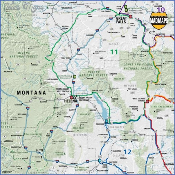 map of montana and wyoming 0 MAP OF MONTANA AND WYOMING