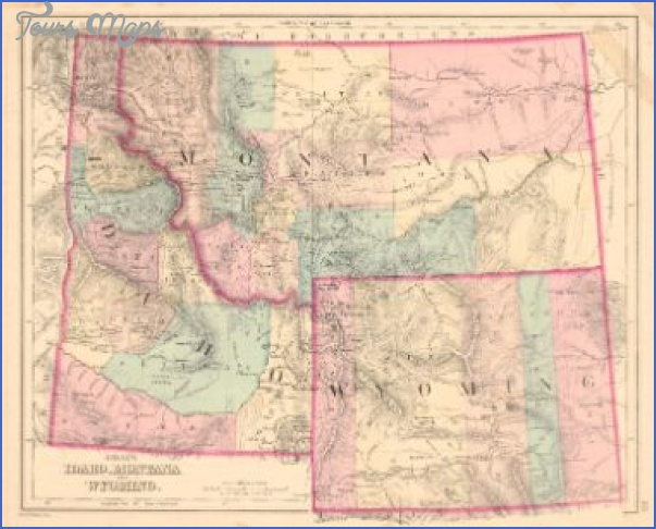 map of montana and wyoming 1 MAP OF MONTANA AND WYOMING
