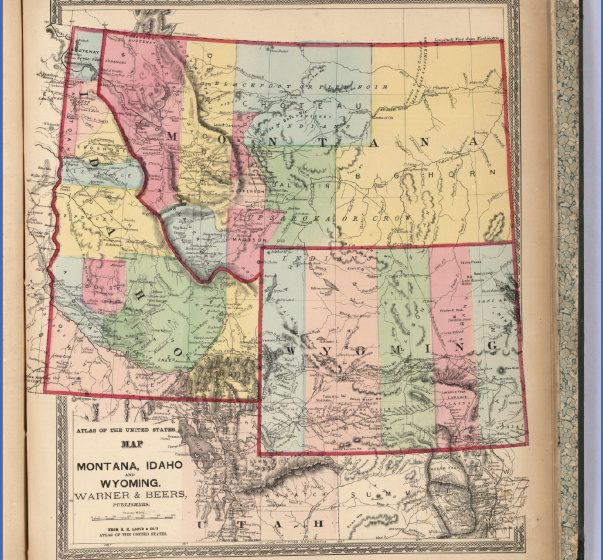 MAP OF MONTANA AND WYOMING  Map  Travel  Holiday