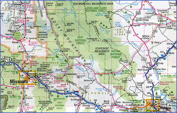 map of montana and wyoming 4 MAP OF MONTANA AND WYOMING